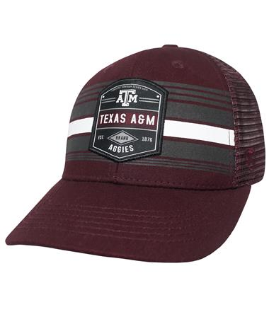 Texas A&M Aggies Branded Meshback Cap - Front Maroon/Black
