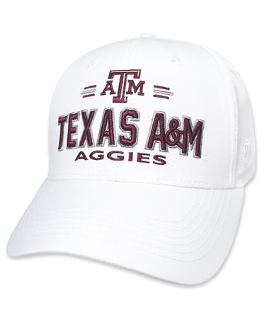 Texas A&M Aggies On Deck Cap - Angled White