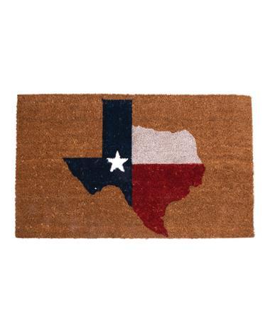 Texas Coir Doormat Natural/Blue/Red/White