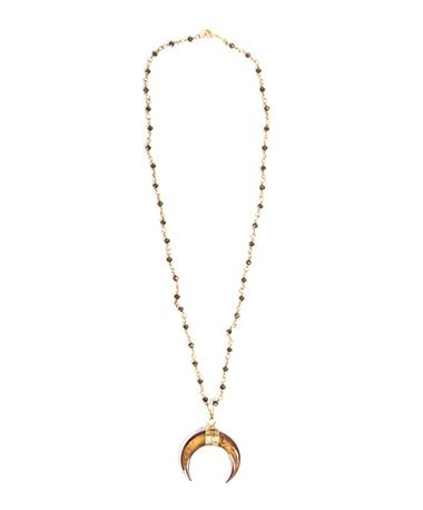 Noah and Faye Crescent Necklace Gold