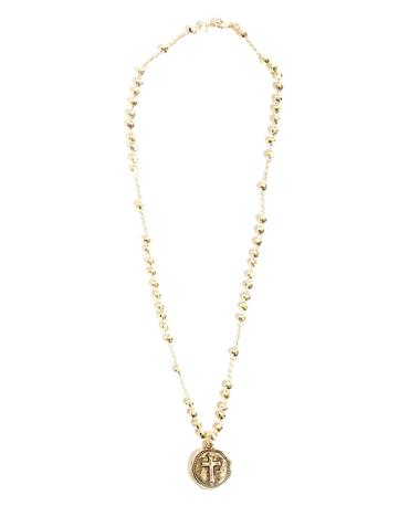 Noah and Faye Gold Cross Necklace Gold