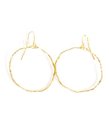 Noah and Faye Gold Hoop Earrings Gold