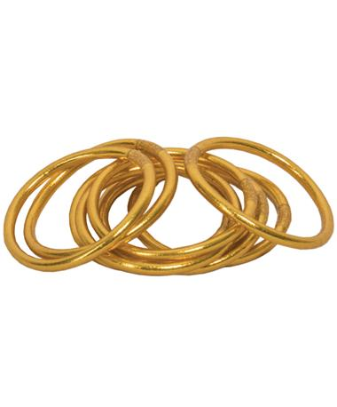 All Weather Gold Bangles Serenity Prayer Gold