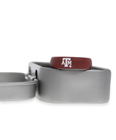 Texas A&M Groove Maroon Thin Band ATM Logo