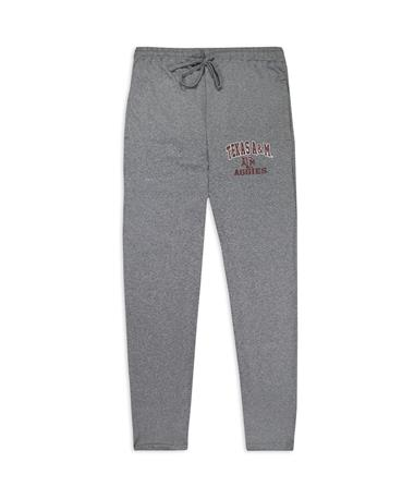 Texas A&M Aggies Men`s Article Pajama Pants - Front Charcoal