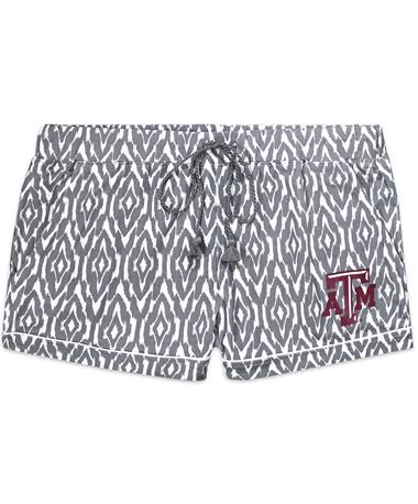 Texas A&M Unwind Ladies Shorts - Front Grey/White
