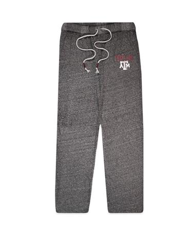 Texas A&M Ladies Squad Pajama Pants - Front Grey