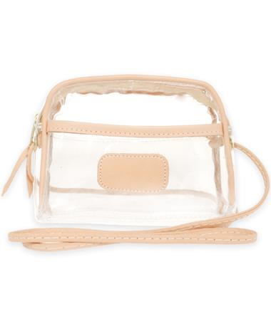 Jon Hart Natural Leather Clear Becky Crossbody