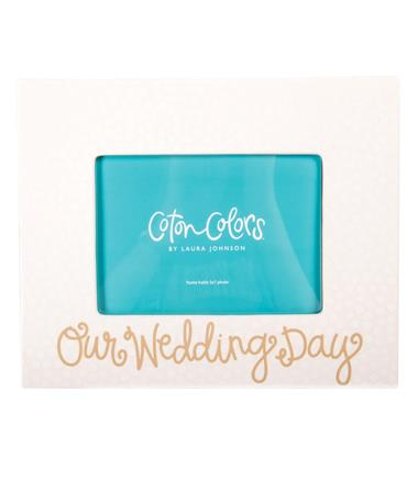 Coton Colors Our Wedding Day Frame