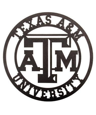 Texas AM Collegiate Metal Sign Black Metal