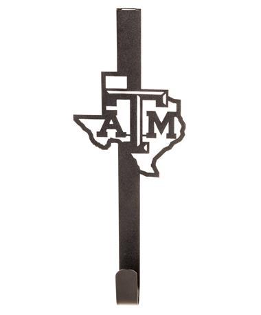 Texas A&M Collegiate Wreath Holder Black Metal