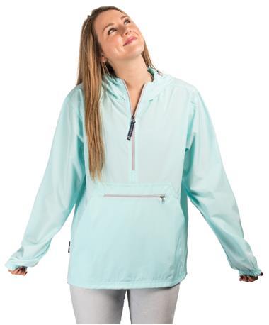 Adult Pack-N-Go Pullover Front Aqua