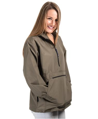 Adult Pack-N-Go Pullover Front Olive