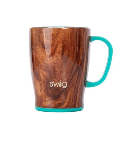 Swig 18oz Insulated Mug - Front Black Walnut