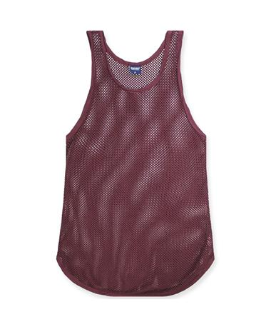 Maroon Spirit Jersey Mesh Cover Up Dress - Front Maroon