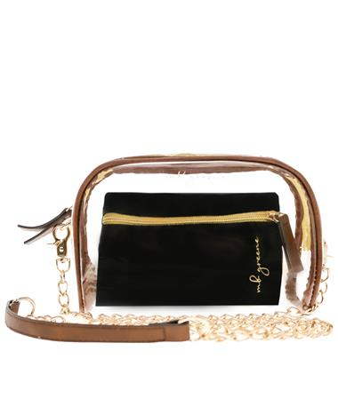 MB Greene Be Clear Chain Purse