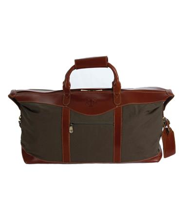 Canyon Texas A&M Pine Duffel - Front Cognac/Forest Green