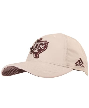 75dcb893f7b Texas A M Adidas Lone Star Adjustable Slouch Hat - White - Front ...