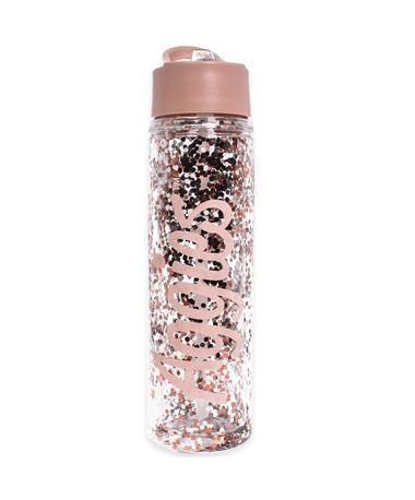Texas A&M Aggies Glitter Water Bottle - Front Pink