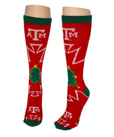 Christmas half calf Sock Red