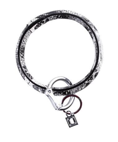 Big O Key Rings Luxe Embossed Leather Tuxedo Snakeskin
