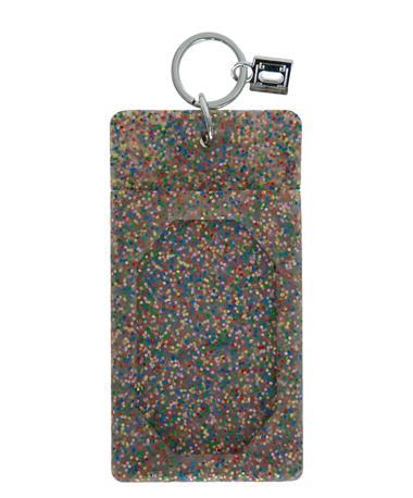 Silicone Sport ID Case Rainbow Confetti