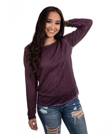 Maroon Long Sleeve Top