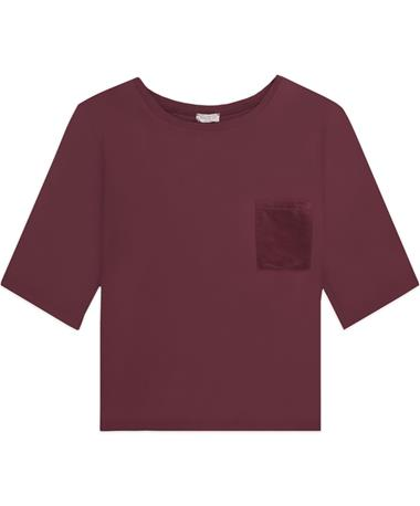 Maroon Pocket Top