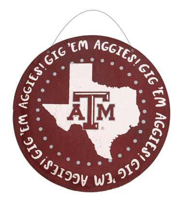 Texas A&M Round Burlee Maroon