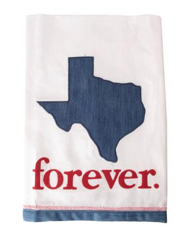 Texas Forever Tea Towel Maroon