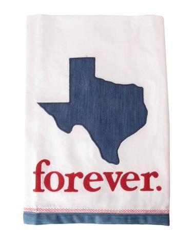 Texas Forever Tea Towel Maroon