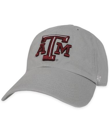 Texas A&M `47 Brand Beveled ATM Clean Up Cap Storm