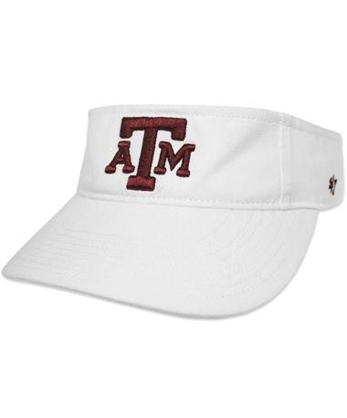 Texas A&M `47 Brand Block Clean Up Visor - White - Front White