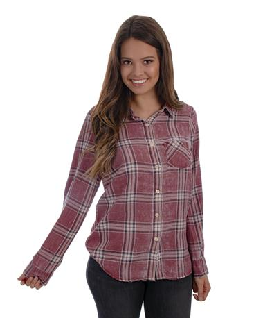 Gameday Flannel-front Maroon
