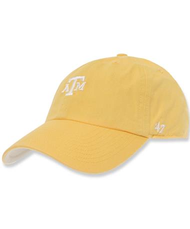 Texas A&M `47 Brand Block Base Runner Cap - Maize - Angled Maize
