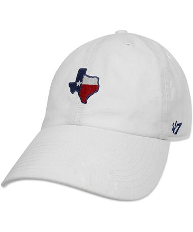 Texas Flag `47 Brand Base Runner Cap - Angled White