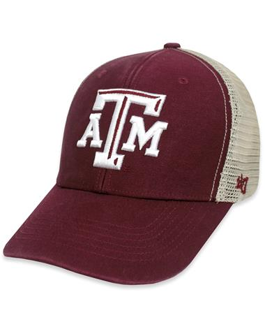 Texas A&M `47 Brand Flagship MVP Cap - Maroon - Front Dark Maroon
