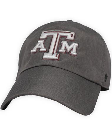 Texas A&M `47 Brand Fury Clean Up Cap Grey