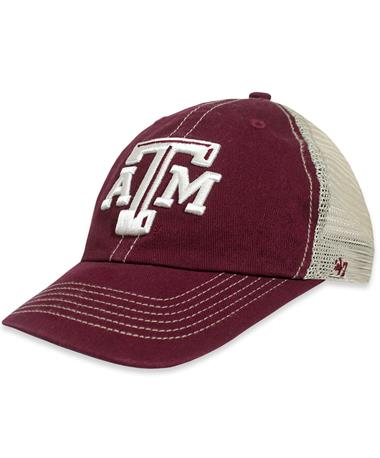 Texas A&M `47 Brand Trawler Clean Up Cap - Maroon - Angled Dark Maroon