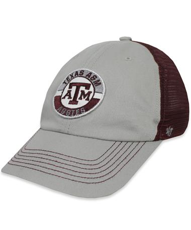 Texas A&M `47 Brand Porter Clean Up Cap - Front Grey