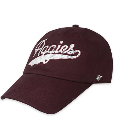 Texas A&M '47 Brand Sparkle Swoop Cap
