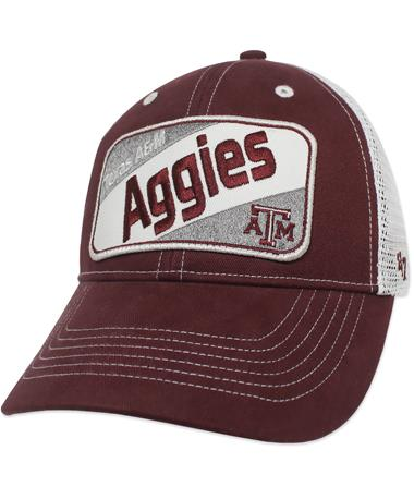 Texas A&M `47 Brand Kids Woodlawn Cap - Front Maroon/White