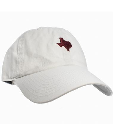 `47 Brand State of Texas Base Runner Cap - White - Front Maroon