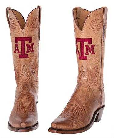 Lucchese Texas A&M Women`s Tan Boot - Pair Brown