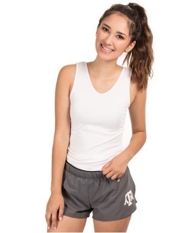 TAMU Womens Badger Double Short Grey