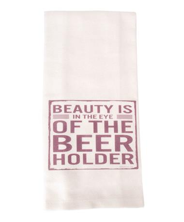 Jazzy Artz Beer is Proof Tea Towel Natural