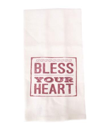 Jazzy Artz Bless Your Heart Tea Towel Natural