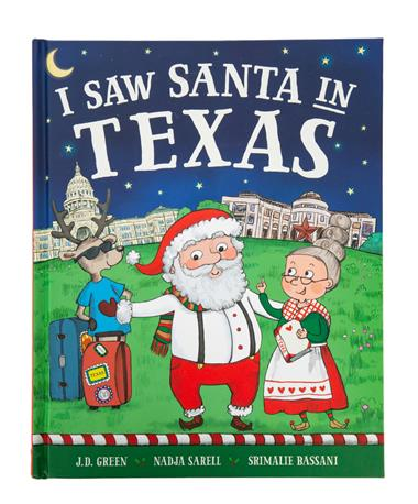 I Saw Santa in Texas Book - Front Multi