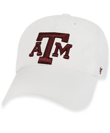 Texas A&M `47 Brand Block Clean Up Cap - White - Front White
