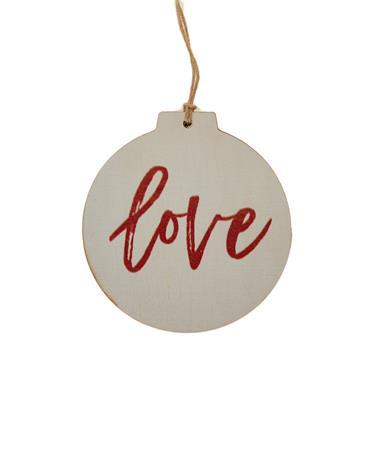 Love Ornament White